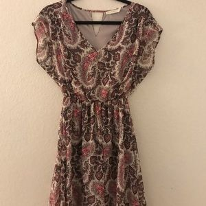 Floral above-the-knee dress
